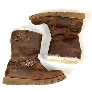 UGG Australia Boots 6 Leather Sheepskin Waterproof